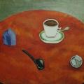 """59. Штеренберг Давид """"Красный стол"""" 1920-е Холст, масло 50х60 Из собрания семьи художника"""