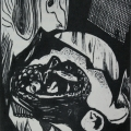 "64. Штеренберг Давид ""Натюрморт"" 1925 Бумага, ксилография 50х39,8 ГМИИ имени А.С.Пушкина"