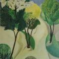 """7. Штеренберг Давид """"Деревья в цвету"""" 1914 Холст, масло 55х38 Из собрания семьи художника"""