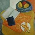 "76. Штеренберг Давид ""Натюрморт с бисквитами"" 1927 Холст, масло 64,5х52 Из собрания семьи художника"
