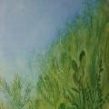 """80. Штеренберг Давид """"Небо и травы. Из цикла """"Травы"""" 1929 Холст, масло 66х54 Из собрания семьи художника"""