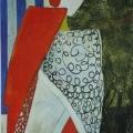 """87. Штеренберг Давид """"Актёр японского театра """"Кабуки"""" 1928 Холст, масло 145х60 Из собрания семьи художника"""