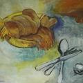 """91. Штеренберг Давид """"Хлебница и солонка"""" 1930-е Холст, масло 43х52 Из собрания семьи художника"""