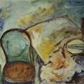 """93. Штеренберг Давид """"Стул и натюрморт"""" 1930-е Фанера, масло 19х24 Из собрания семьи художника"""