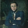 """2. Скотти Михаил """"Портрет А.И.Теребенева"""" 1835 Холст, масло 25х20,5 Государственная Третьяковская галерея"""