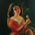"""5. Скотти Михаил """"Итальянка с розаном в руке"""" 1842 Холст, масло 75х62,5 Государственный Русский музей"""