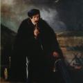 """15. Скотти Михаил """"Охотник в бурке"""" 1837 Холст, масло 76,5х66 Иркутский художественный музей"""