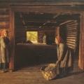 """4. Сорока Григорий """"Гумно"""" Лето 1843(?) Холст, масло 53,5х65 Государственный Русский музей"""