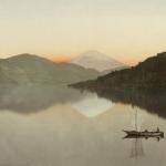 Неизвестный автор «Вид на гору Фудзи с озера Хаконе» 1880-1890-е. Предоставлено: Мультимедиа Арт Музей.