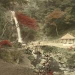"""Неизвестный автор """"Водопад Мино близ Кобэ"""" 1880-1890-е. Предоставлено: Мультимедиа Арт Музей."""