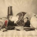 Неизвестный автор «Мастерская по изготовлению зонтов» 1880-1890-е. Предоставлено: Мультимедиа Арт Музей.