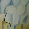"""3. Стерлигов Владимир """"Первая бабочка"""" 1969 Холст, масло 83х59 Государственный музей истории Санкт-Петербурга"""