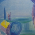 "25. Стерлигов Владимир ""Алупка. Море"" 1962 Холст, масло 52,3Х64,5 Из собрания А.Б.Стерлигова, Москва"