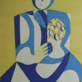 "26. Стерлигов Владимир ""Женщина с цветами"" 1963 Бумага, картон 41х33,3 Из собрания А.Б.Стерлигова, Москва"