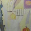 "32. Стерлигов Владимир ""Интерьер"" 1969 Картон, масло 50х54 Из собрания А.Б.Стерлигова, Москва"