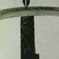 """47. Стерлигов Владимир """"Распятие"""" 1973 Бумага, тушь 24х17 Из собрания Л.Н.Глебовой, Петродворец"""
