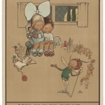 """Мейбл Люси Аттуэлл """"Мы отправились на пантомиму, вы тоже? Только одним способом – подземкой"""" Конец 1910-х. Предоставлено: © ГМИИ имени А.С. Пушкина."""