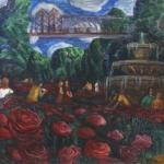 """Светлана Атаханова """"Розовый сад в Парке Горького"""" 2016. Предоставлено автором."""