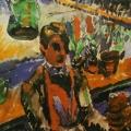 """12. Татлин Владимир """"В саду"""" 1908-1909 Бумага, гуашь 26,3х22,1 Российский государственный архив литературы и искусства"""