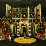"""Владимир Серебровский """"Фунт мяса"""" по пьесе Уильяма Шекспира """"Венецианский купец"""" 1963. Предоставлено: ГЦТМ имени А.А.Бахрушина."""
