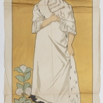 """Клодт М.П. """"Афиша спектакля """"Дама с камелиями"""" А. Дюма"""" 1899. Предоставлено: Санкт-Петербургский государственный музей театрального и музыкального искусства."""