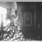 Внутренний вид Чудова монастыря в Кремле, подвергшегося разрушению во время октябрьско-ноябрьских боев 1917 года. Ноябрь 1917. Предоставлено: Государственный центральный музей современной истории России.