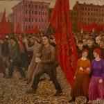 """А. Монин """"Демонстрация. Дипломная работа"""" 1925. Музей Москвы. Предоставлено: Музей Москвы."""