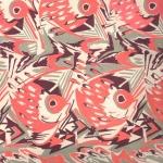 """Н. Киселева """"Эскиз для ткани """"Рыбы"""" 1920-е. Частная коллекция. Предоставлено: Музей Москвы."""