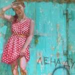 """Виктория Удалова """"Лена-дура"""" 2020. Предоставлено: Alpert Gallery."""