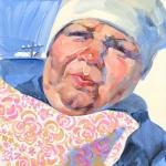 """Виктория Удалова """"Продавщица подушек"""" 2020. Предоставлено: Alpert Gallery."""