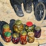 """Виктория Удалова """"Провинция. Рынок"""" 2020. Предоставлено: Alpert Gallery."""