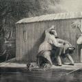 """7. Волков Адриан """"Хоть видит око, да зуб неймёт"""" 1861 Литография с тоном 40,5х59,6 Государственный Русский музей"""