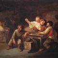 """8. Волков Адриан """"В таверне"""" 1865 Холст, масло 27х36,3 Государственный Русский музей"""