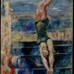 """Александр Родченко """"Прыжок в воду"""" 1940. Предоставлено: Московский музей современного искусства - ММОМА."""