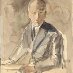 """Александр Лабас """"На паровозе"""" (оборотная сторона) 1936. Предоставлено: Московский музей современного искусства - ММОМА."""
