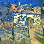 """7. Малевич Казимир """"Весна - цветущий сад"""" 1904 Холст, масло 44х65 Государственная Третьяковская галерея"""