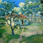 """8. Малевич Казимир """"Весна"""" 1905-1906 Холст, масло 53х66 Государственный Русский музей"""