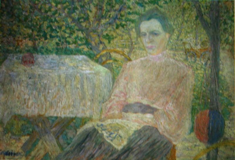"""10.  Малевич Казимир  """"Портрет неизвестной (из семьи художника)""""  1906  Холст, масло  68х99  Городской музей, Амстердам"""