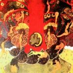 """23. Малевич Казимир """"Танец дриад вокруг дуба"""" 1908 Бумага, акварель 21х28 Частное собрание"""