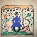 """28. Малевич Казимир """"Общество"""" 1908 Бумага, графитный карандаш, акварель, тушь, гуашь 15,2х19,2 Коллекция Sepherot Foundation, Лихтенштейн"""