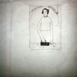 """35. Малевич Казимир """"Прачечное заведение"""" Конец 1900-х Бумага, графитный карандаш 19,5х20 Коллекция Sepherot Foundation, Лихтенштейн"""