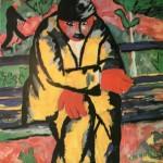 """37. Малевич Казимир """"На бульваре"""" 1911 Бумага, гуашь 72х71 Городской музей, Амстердам"""