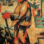 """38. Малевич Казимир """"Садовник"""" 1911 Бумага, гуашь 91х70 Городской музей, Амстердам"""