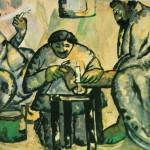 """39. Малевич Казимир """"Мозольный оператор в бане"""" 1912 Бумага, гуашь 77х103 Городской музей, Амстердам"""