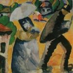 """45. Малевич Казимир """"Провинция"""" 1911-1912 Бумага, гуашь 70,5х70.5 Городской музей, Амстердам"""