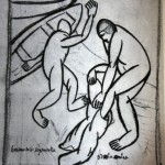 """52. Малевич Казимир """"Купальщики"""" 1910-1911 Бумага, графитный карандаш 20,4х15,8 Государственный Русский музей"""