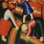 """57. Малевич Казимир """"Уборка ржи"""" 1912 Холст, масло 72х74,5 Городской музей, Амстердам"""