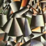 """59. Малевич Казимир """"Женщина с ведрами"""" 1912 Холст, масло 80,3х80,3 Музей современого искусства, Нью-Йорк"""