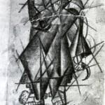 """85. Малевич Казимир """"Жница. Литография из книги А.Крученых """"Слово как таковое"""" 1913 Литография 13,2х8,7"""