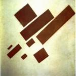 """95. Малевич Казимир """"Супрематизм (с восемью прямоугольниками)"""" 1915 Холст, масло 57,5х48,5 Городской музей, Амстердам"""